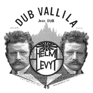 A Label design for a Dub Vallila 45rpm vinyl released by Helmi-Levyt (Click for more info)