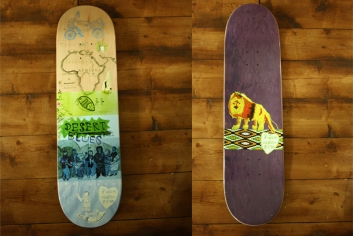 A Skateboard design for 7 inch skateboards and RCM collaboration