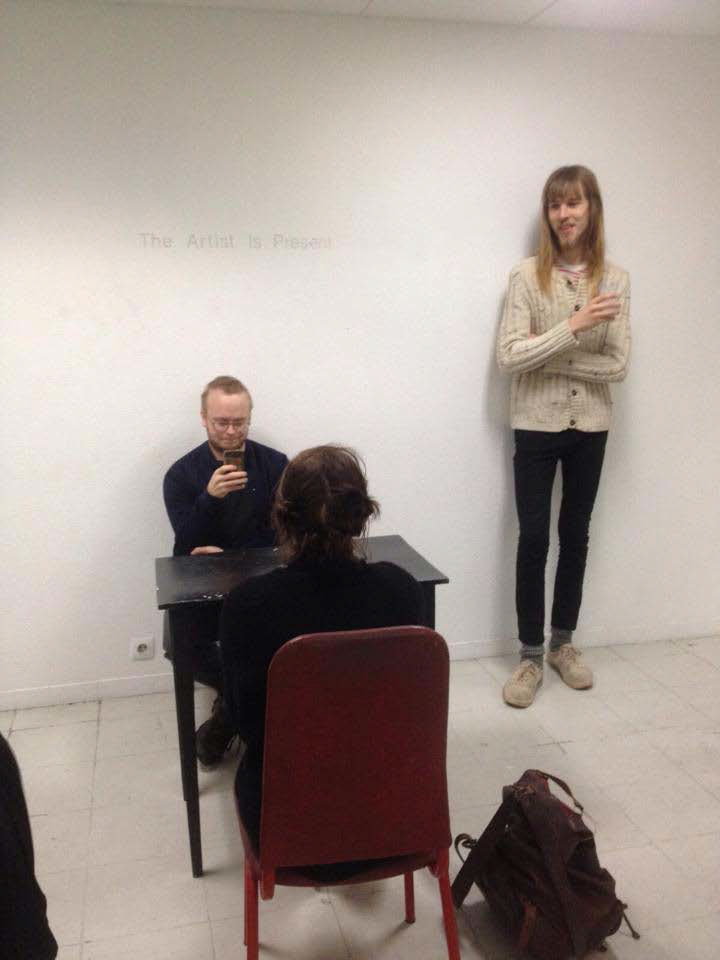 Performance Time & Place: 13.11. 2015 Kling Og Bang Gallery, Reykjavik, Iceland